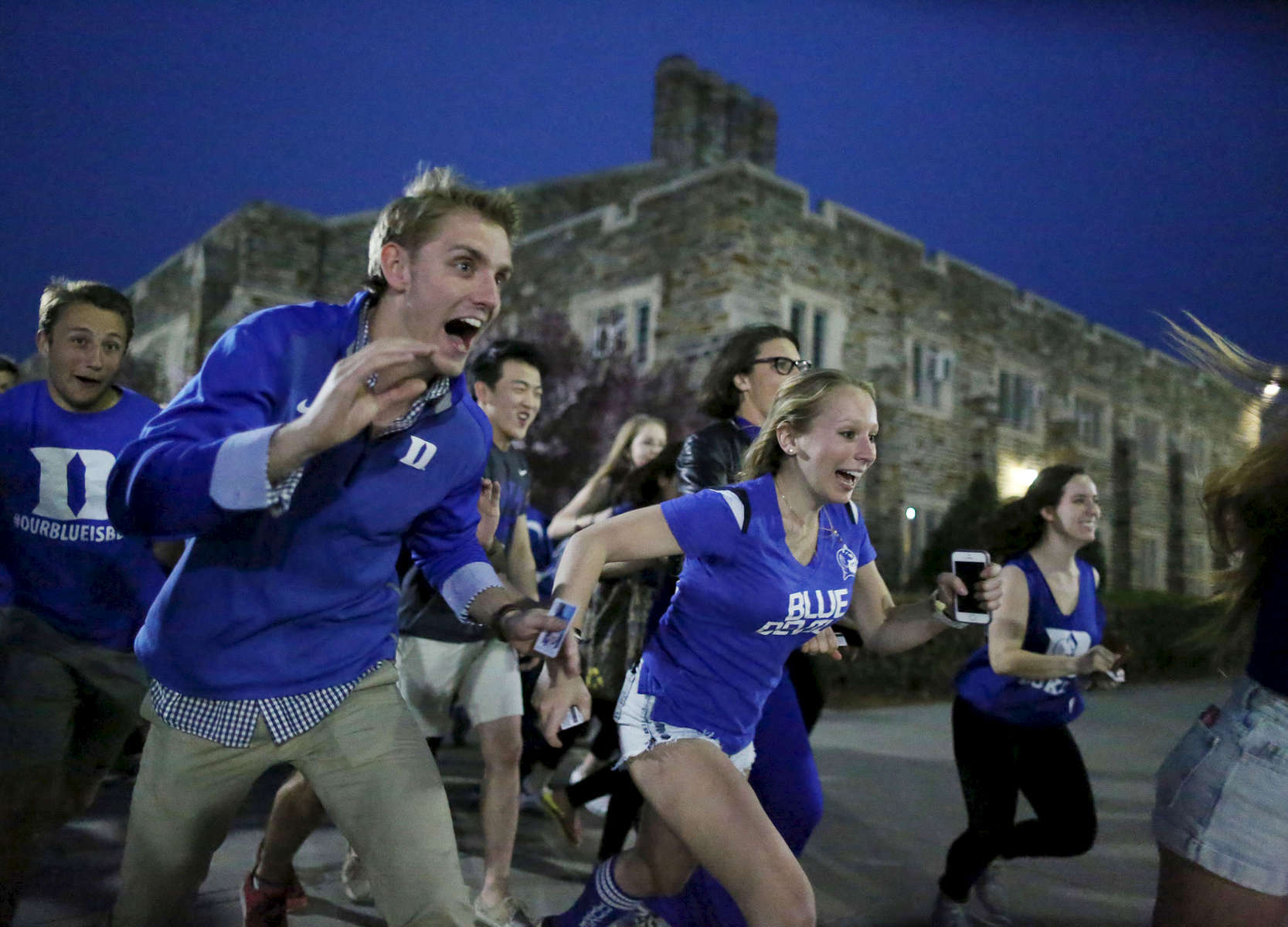 Student Photographer of the Year: Runner UpAl Drago, Elon UniversityDuke students rush into Cameron Indoor Stadium for the viewing party before Duke took on Wisconsin in the NCAA national championship title on April 6, 2015 in Durham, N.C.
