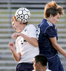 Sports Photographer of the YearMark Dolejs, The Daily DispatchSouthern Vance's Jarrett Seaman gets the header against Northern Vance's Luke Frezier in their Tuesday night matchup at Southern.
