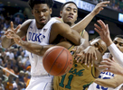 Sports POY: Runner UpEthan Hyman, The News & ObserverDuke's Justise Winslow (12) and Notre Dame's Demetrius Jackson (11) go after the loose ball during the second half of Notre Dame's 74-64 victory over Duke in the semifinals of the 2015 New York Life ACC Tournament at the Greensboro Coliseum in Greensboro, N.C., Friday, March 13, 2015.