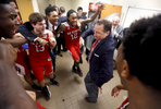 Sports POY: Runner UpEthan Hyman, The News & ObserverN.C. State's head coach Mark Gottfried dances in the locker room after N.C. State's 58-46 victory over  North Carolina at the Smith Center in Chapel Hill, Tuesday, Feb. 24, 2015.  It is the first victory for the Wolfpack at the Smith Center in 12 years.