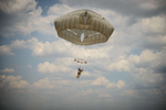 Honorable Mention | Pictorial Andrew Craft, The Fayetteville Observer A paratrooper floats to the ground during the St. Michael jump on Wednesday, April 27, 2016, at the Sicily drop zone on Fort Bragg, N.C. More than 350 Fort Bragg paratroopers jumped in honor St. Michael, the patron saint of paratroopers.