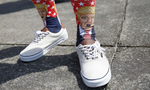 Third Place | News Photo Story Christine Nguyen, North State Journal Logan Edwards,17, of Sparta wears Donald Trump socks before attending a campaign rally for the Republican Presidential candidate at the Winston-Salem Fairgrounds Annex. Edwards purchased the socks in Myrtle Beach, S.C.
