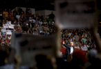 Third Place | News Photo Story Christine Nguyen, North State Journal Donald Trump speaks during a campaign rally at Crown Coliseum in Fayetteville, N.C. The Republican presidential frontrunner campaigned in North Carolina twice this week in advance of the state's March 15 primary.