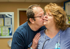 Honorable Mention | Feature Photo Story Allison Lee Isley, Winston-Salem Journal / Randolph Community College Denny kisses Eugenie on the cheek before she returns home from dropping him off at Trinity Living Center on Friday, June 17, 2016 in Salisbury, N.C.
