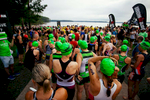 First Place | Sports Photo Story Ben McKeown, Freelance Particpants await the start of the Ironman 70.3 race in Raleigh, N.C. on Sunday June 5, 2016.