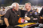 Second Place | Sports Photo StoryAndrew Dye, Winston-Salem Journal Modified series driver Burt Myers is congratulated by his father, Gary Myers, after winning the first Modified series race of the night on the eve of Father's Day on Saturday, June 18, 2016 in Winston-Salem, N.C.