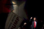 POY: Runner UpMadeline Gray, North State Journal Presumptive Republican presidential nominee Donald Trump raises his fist as he leaves the stage after a rally at the Duke Energy Center for the Performing Arts in Raleigh.