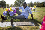 POY: Runner UpMadeline Gray, North State Journal Daeqwon Currie, a recovered heroin addict, sits beside his grandmother's grave where he goes to seek solace in his hometown of Wilson. Daeqwon is building a new foundation working at Dunkin Donuts and regularly attending Farmington Heights Church of God as he continues to stay clean.