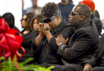 POY: Runner UpMadeline Gray, North State Journal Akiel Denkins' mother Rolanda Byrd breaks down during her son's funeral service at Bible Way Temple in Raleigh. Denkins was shot and killed by a Raleigh police officer.