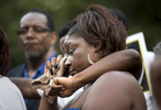 POY: Runner UpMadeline Gray, North State Journal Rolanda Byrd, the mother of Akiel Denkins who was killed by a Raleigh police officer in February, cries as the names of victims of police violence are read aloud at a vigil.