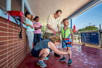 Student Photographer of the YearAllison Lee Isley, Winston-Salem Journal / Randolph Community College Denny assists Eugenie in applying sunscreen to their grandson, Chase Oliver's, 5, skin before his first swimming lesson Tuesday, June 14, 2016 at Salisbury's City Pool in Salisbury, N.C.