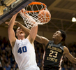 Sports Photographer of the Year Ben McKeown, Freelance Duke's Marshall Plumlee (40) dunks against Florida State's Jarquez Smith (23) during the second half of an NCAA college basketball game in Durham, N.C., Thursday, Feb. 25, 2016.