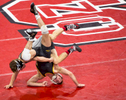 Sports Photographer of the Year Ben McKeown, Freelance NC State and Appalachian State wrestlers compete during a meet in Raleigh, N.C. on Nov. 30, 2016.