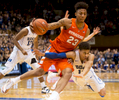 Sports Photographer of the Year Ben McKeown, Freelance Syracuse's Malachi Richardson (23) handles the ball as Duke's Derryck Thornton, right, dives during the second half of an NCAA college basketball game at Cameron Indoor Stadium in Durham, N.C. Monday, Jan. 18, 2016. Syracuse defeated Duke 64-62.