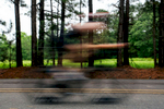 Sports Photographer of the Year Ben McKeown, Freelance A cyclist passes during the Ironman 70.3 race in Raleigh, N.C. on Sunday, June 5, 2016.