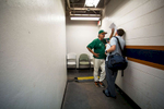 Sports Photographer of the Year Ben McKeown, Freelance Miami head coach Jim Morris is interviewed in the hallway behind the dugout following a victory in the ACC Baseball Tournament in Durham, N.C. on May 26, 2016.