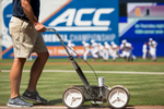 Sports Photographer of the Year Ben McKeown, Freelance A fresh coat of paint is applied to the field at Durham Bulls Athletic Park prior to an ACC Tournament Baseball game in Durham, N.C. on May 28, 2016.