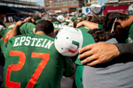 Sports Photographer of the Year Ben McKeown, Freelance Miami baseball players huddle prior to the start of an ACC Baseball Tournament Game in Durham, N.C. on May 28, 2016.