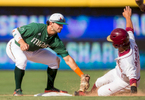 Sports Photographer of the Year Ben McKeown, Freelance Miami's Brandon Lopez tags out a Florida State runner during an ACC Tournament Baseball Game in Durham, N.C. on May 28, 2016.