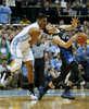 Sports POY: Runner UpEamon Queeney, North State Journal Duke Blue Devils guard Grayson Allen (3) reacts as he collides on a loose ball with North Carolina Tar Heels forward Kennedy Meeks (3) in the first half of the college basketball game between the North Carolina Tar Heels and the Duke Blue Devils at the Dean E. Smith Center in Chapel Hill, Wednesday evening, February 17, 2016. The Duke Blue Devils defeated the North Carolina Tar Heels 74 - 73.