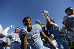 Sports POY: Runner UpEamon Queeney, North State Journal North Carolina Tar Heels linebacker Kemmi Pettway (52) reacts after the college football game at Kenan Memorial Stadium in Chapel Hill, Saturday, November 5, 2016. The against the North Carolina Tar Heels defeated the Georgia Tech Yellow Jackets 48 - 20.