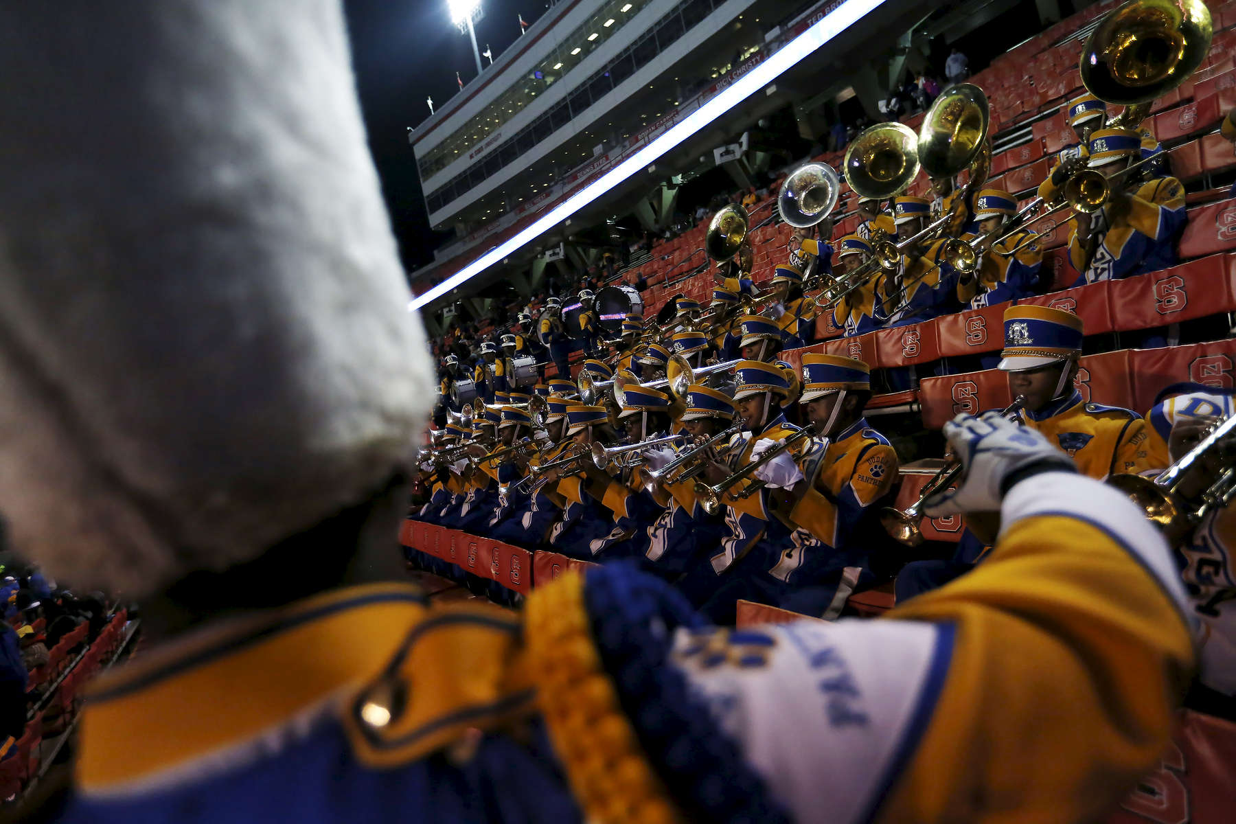 Sports POY: Runner UpEamon Queeney, North State Journal The Dudley Panthers marching band performs before the NCHSAA Division 4A State Championship football game against the Cape Fear Colts at Carter-Finley Stadium in Raleigh, Saturday, December 17, 2016. The Dudley Panthers defeated the Cape Fear Colts 54 - 0.