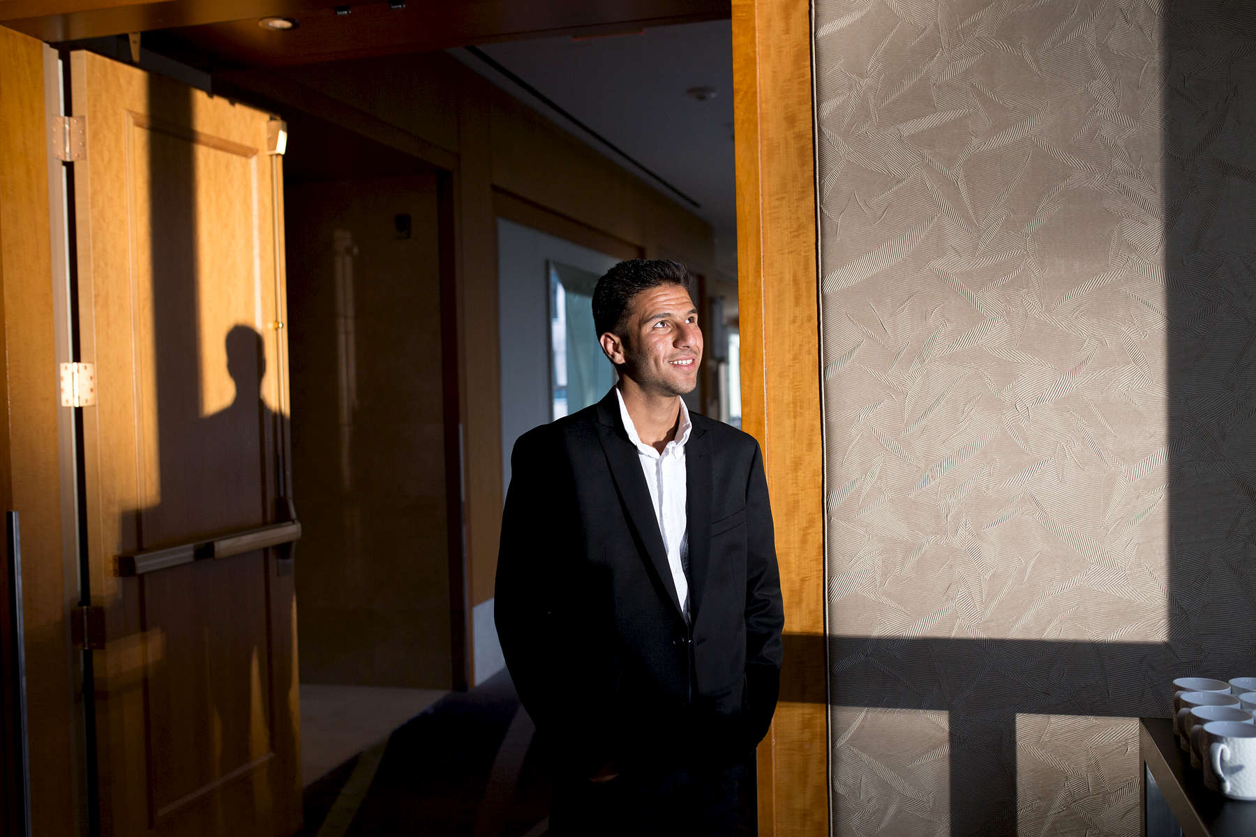 Louai inside of the Ritz-Carlton Toronto.
