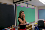 Laura Smith gets emotional in her grade 3 classroom at Edmison Heights Public School.