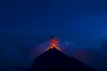 Volcano Fuego makes an eruption just one month before the eruption that killed dozens.