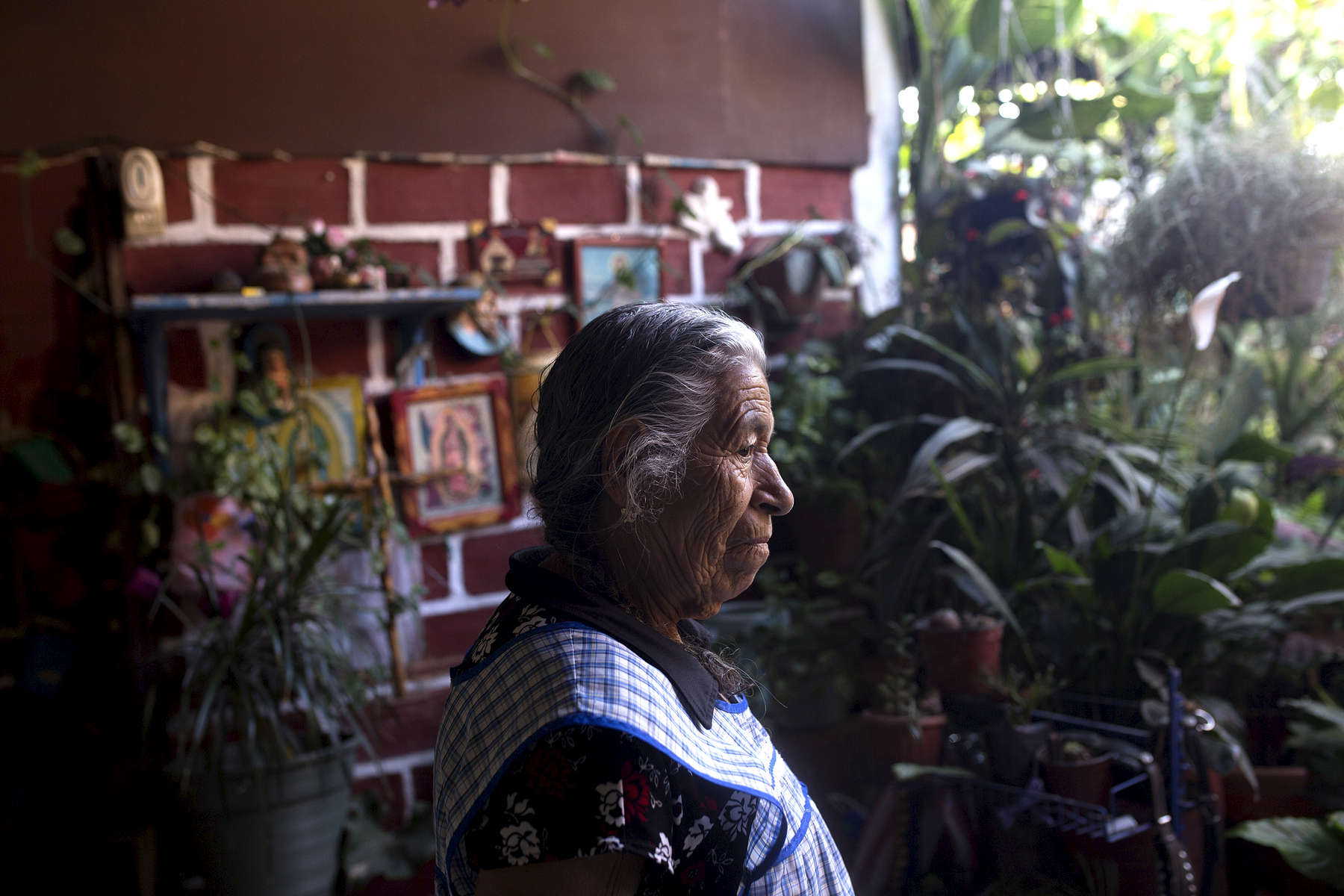 Guadalupe Sánchez in her family home in Miahuatlán.