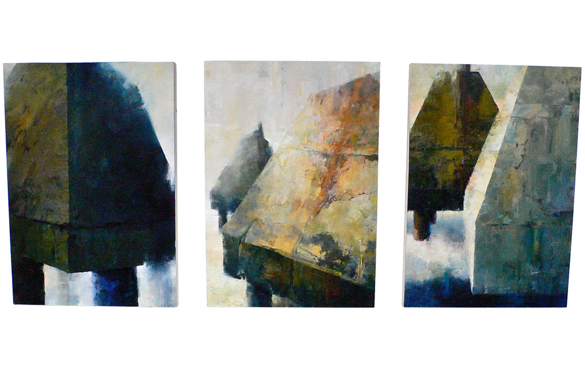 MID CENTURY ABSTRACT TRIPTYCH