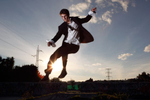 Skater in Tux
