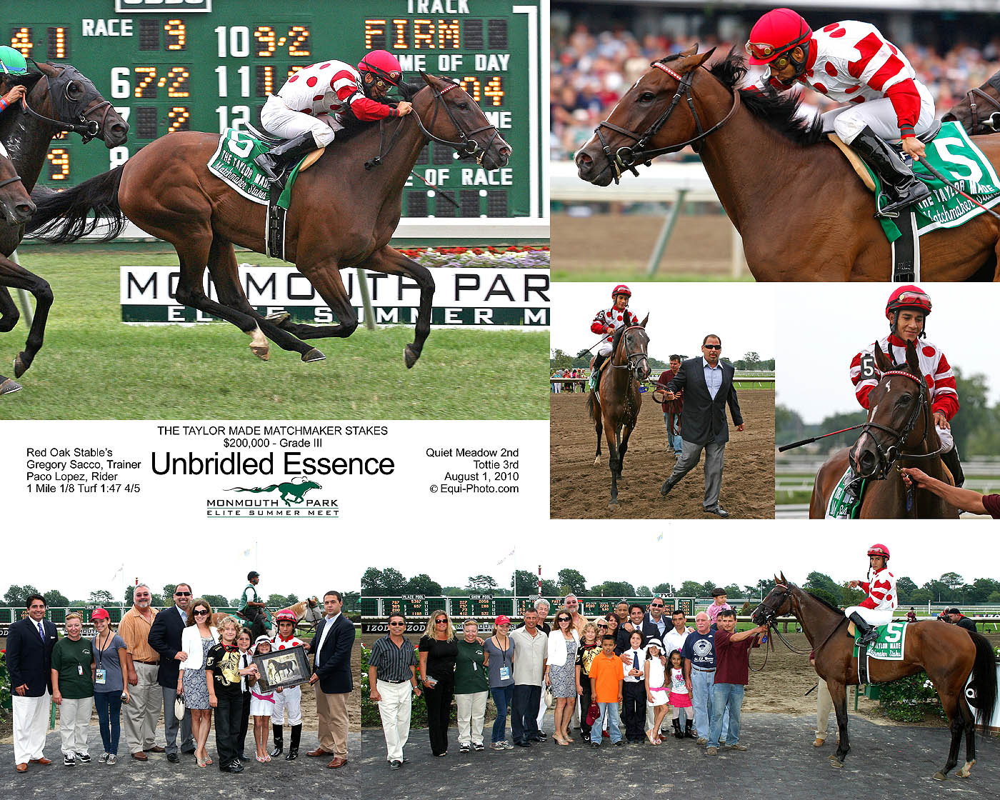 The 6in1 Stake Photo is available for winners of Stakes Races.  Sizes available are 16x20 and 20x24.