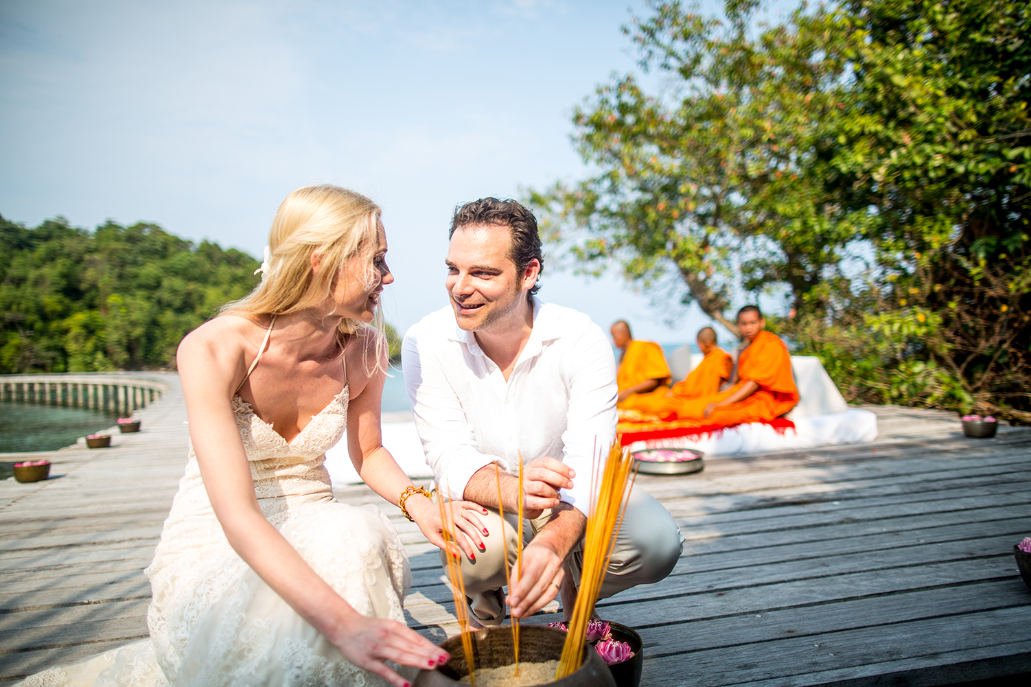 Christian and Sarah\'s Wedding at Song Saa Private Island Resort. Justin Mott/Mott Visuals Weddingswww.mottvisualsweddings.com