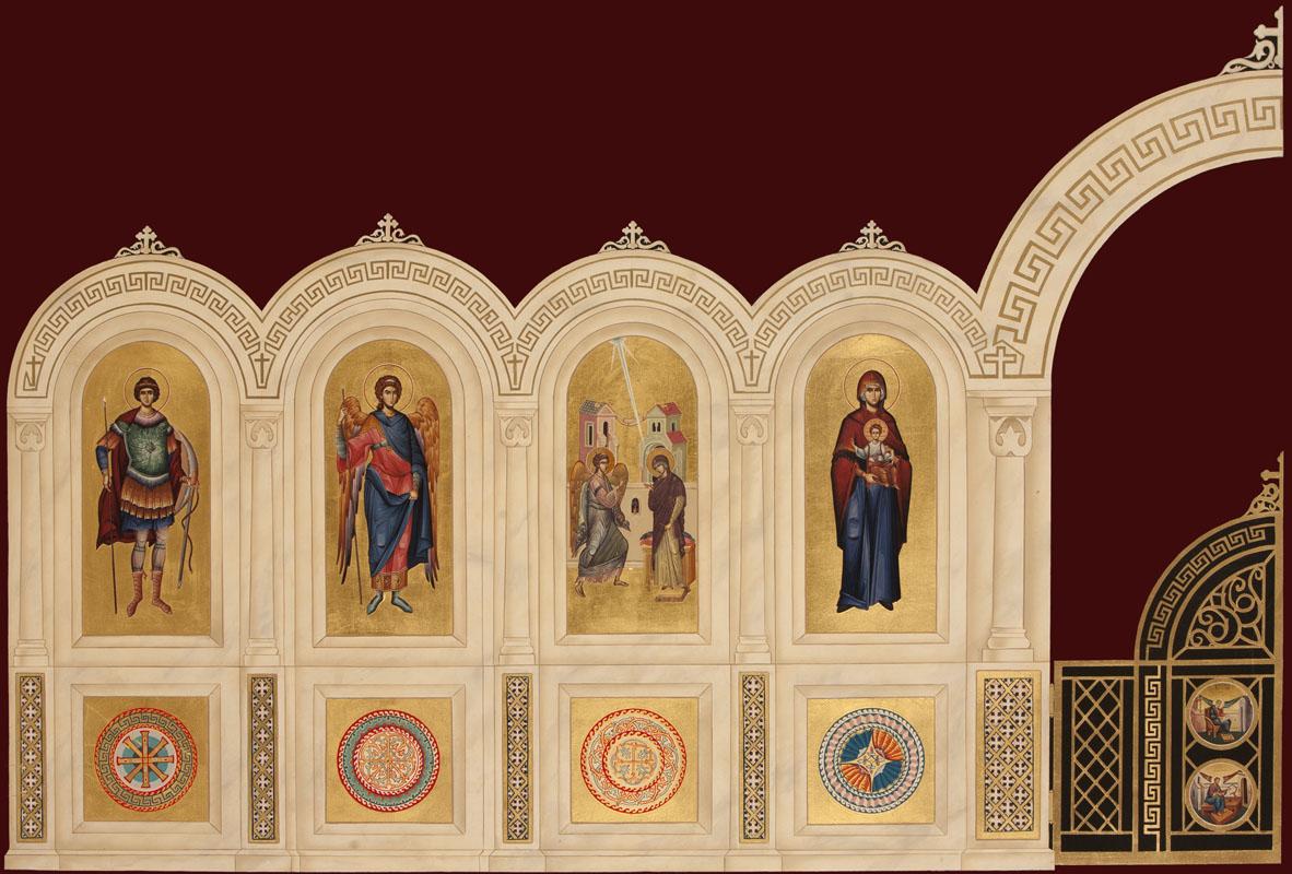 Mock-up of Iconostasion