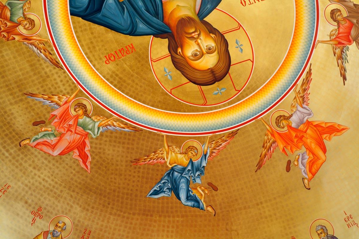 Angels surrounding Jesus Christ, Pantokrator