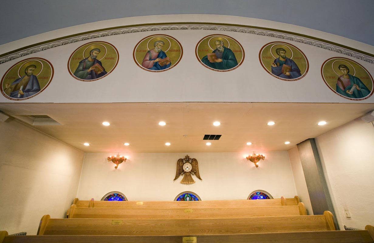Icons Above the Choir Loft