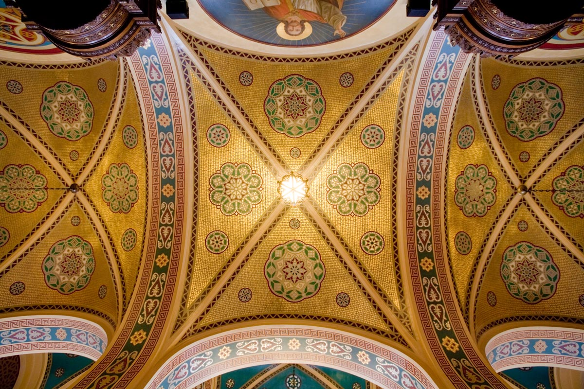 Restored Narthex Ceiling