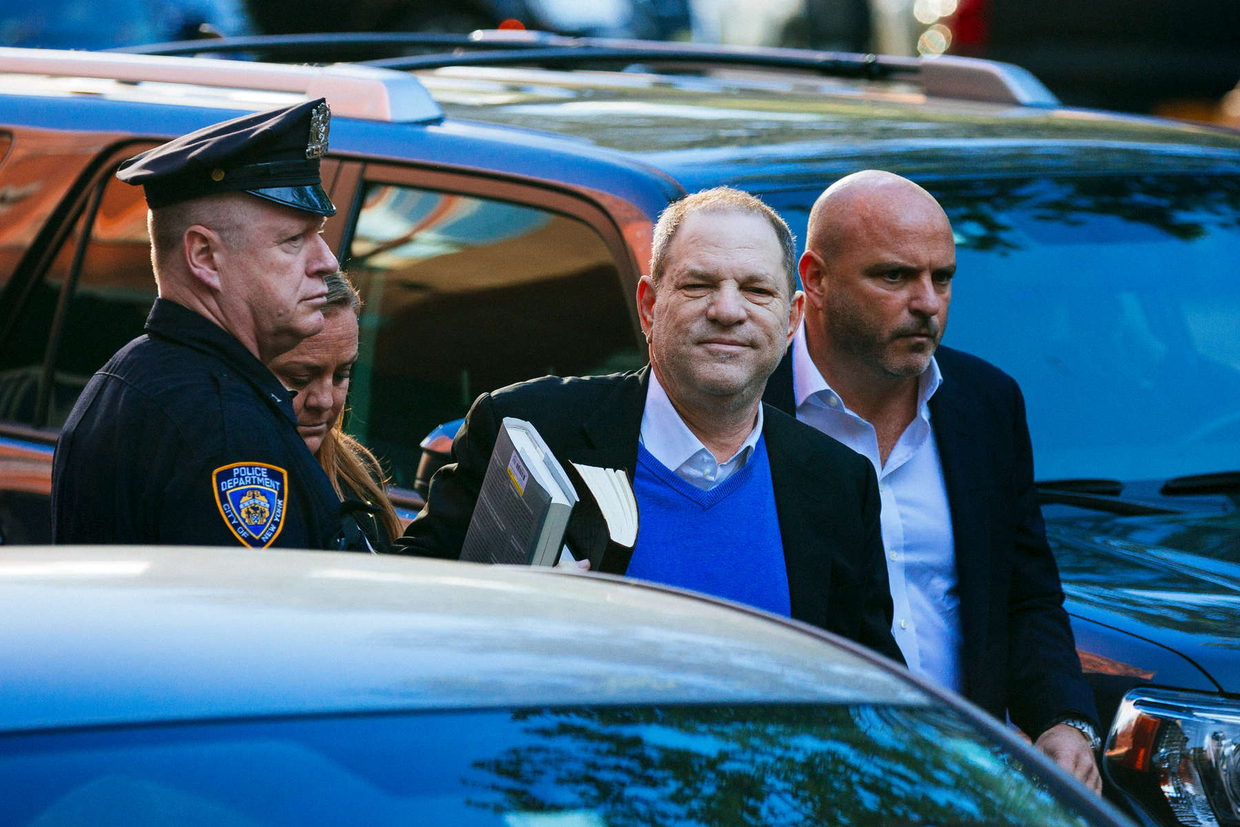 NEW YORK, NY - MAY 25: Harvey Weinstein arrives to face rape charges at the 1st Precinct on May 25, 2018 in New York City. (Photo by Kevin Hagen/Getty Images)