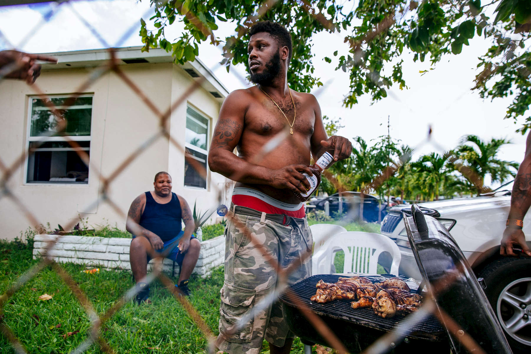Miami, Fla. - September 11, 2017: Workers after massive power outages following Hurricane Irma in Miami, Fla. CREDIT: Kevin Hagen for The New York TimesNYTSTORM