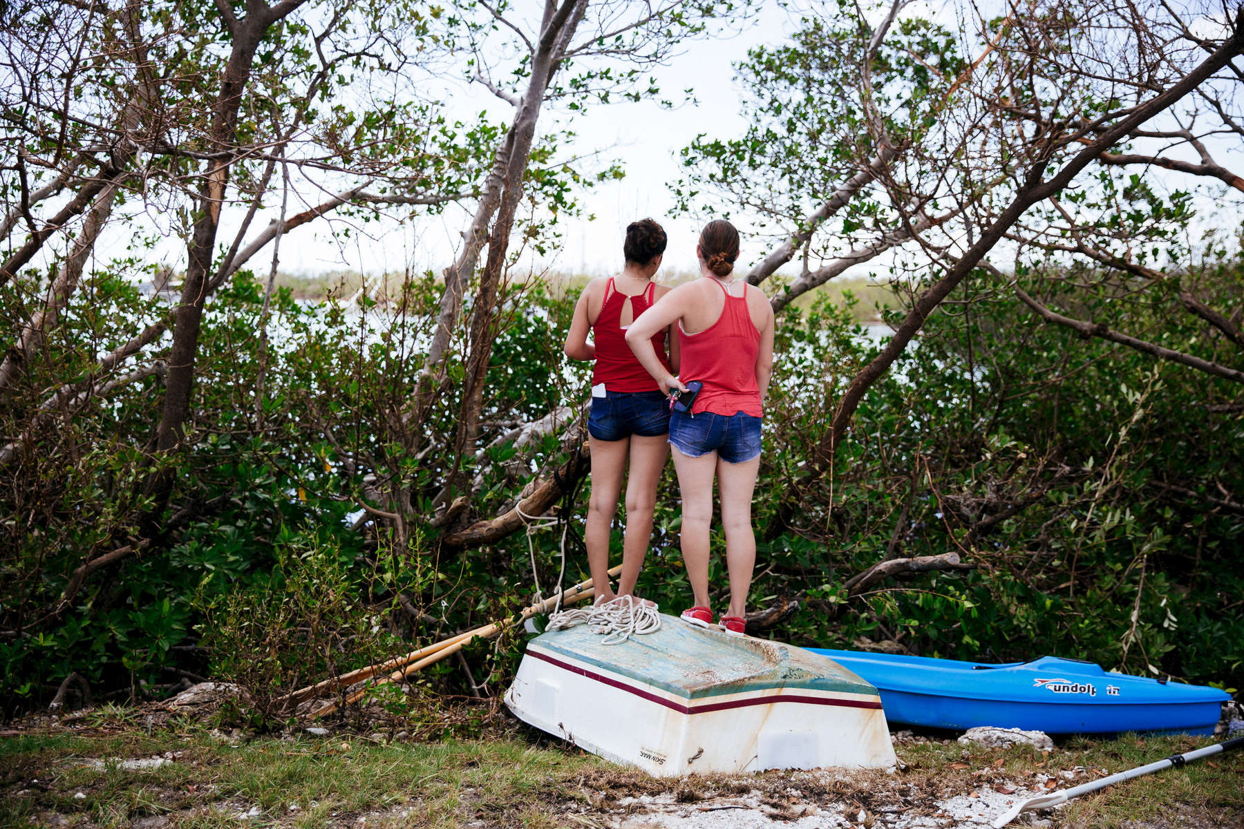 Marathon, Fla. - September 13, 2017: in the Little Venice section of Marathon, Fla. CREDIT: Kevin Hagen for The New York TimesNYTSTORM