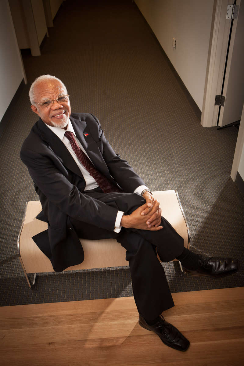 Former Foreign Minister of Haiti and graduate of Yale University Jean Renald Clerisme. Yale School of Management