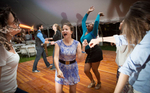 Members of the class of 2009 dance at their 5th reunion. Yale Alumni Magazine