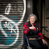 Rose, an immigrant from Malta sits outside her 5th floor walk up where she has lived for the last 64 years on E 4th street in the east village. She raised her 7 children in this apartment, many of whom moved to NJ. The storefront where she sits used to be a meat market until the neighbors sued due to middle of the night noisy deliveries, and had the store shut down.
