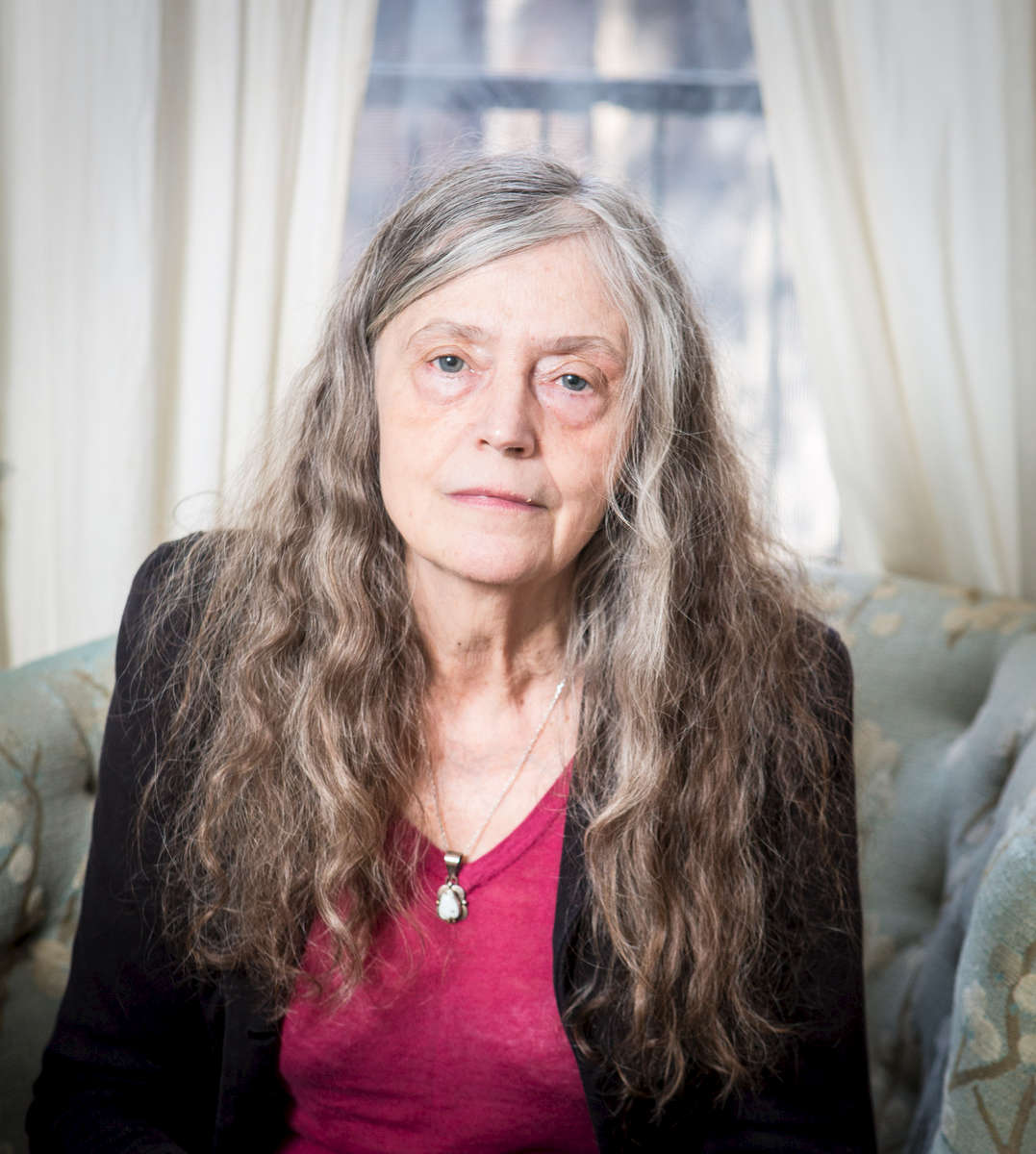Poet Alice Notley at her family's 4th st. apartment.