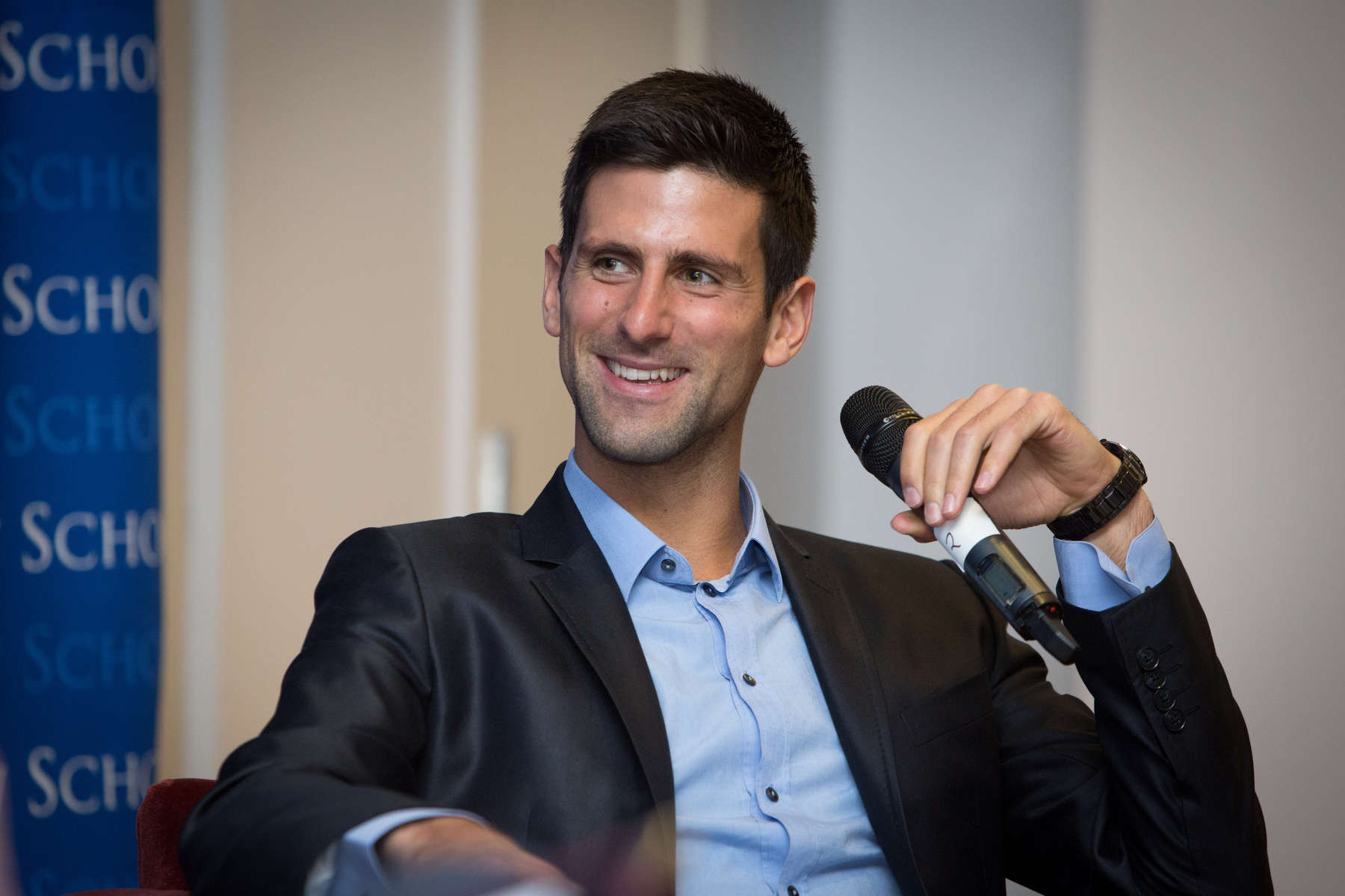 Considered one of the best tennis players of all time, Serbian tennis player, Novak Djokovic talks about the business of tennis at a university in NewYork.