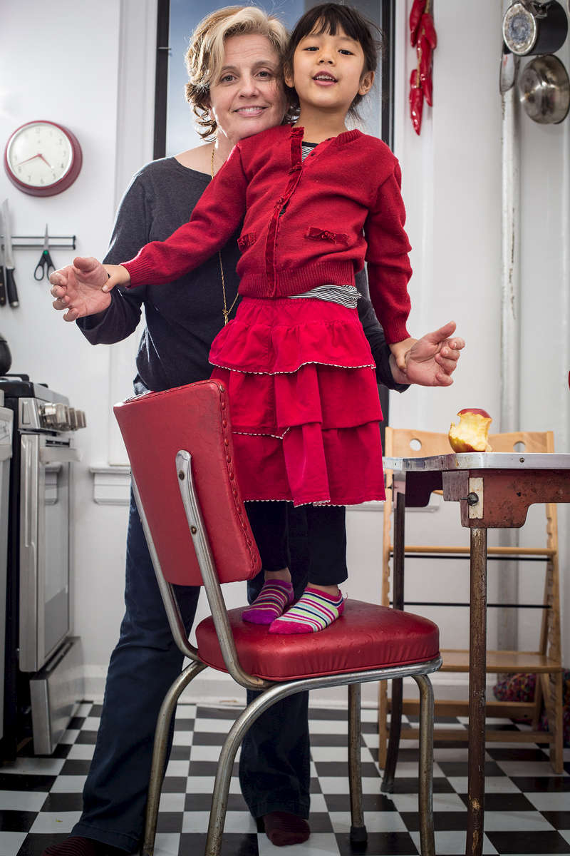Marianne Weems is the artistic director of the New York-based Obie Award-winning performance and media company The Builders Association. Photographed here in her Manhattan apartment with her daughter, she is a director of theater and opera and a professor at UC Santa Cruz.