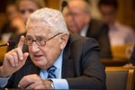 Henry Kissinger speaks at Yale University