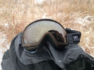 The freezing rain melted on my goggles.
