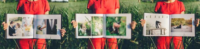 Luxory wedding books (albums) made by Wedding Photoartelier